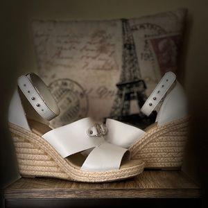 Náutica - White Summer Wedge Sandals